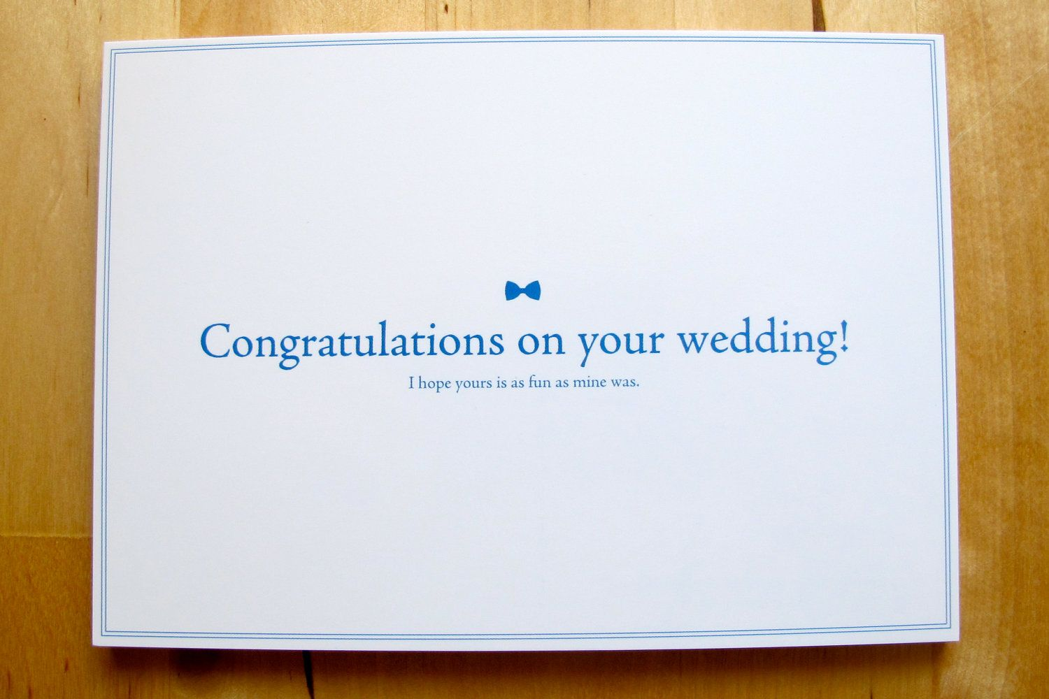 Passive aggressive greeting cards congratulations on your wedding passive aggressive greeting cards congratulations on your wedding i hope yours is as fun kristyandbryce Image collections