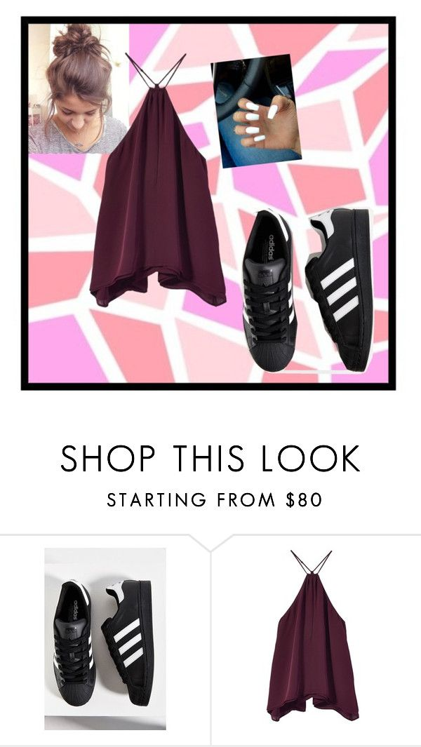 """""""My first day of school ootd if I was in high school"""" by rcl-chabria ❤ liked on Polyvore featuring adidas and nextyeargoals"""