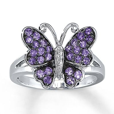 Ladies Modern 14K Yellow Gold Butterfly Insect Animal Split Shank Band Ring
