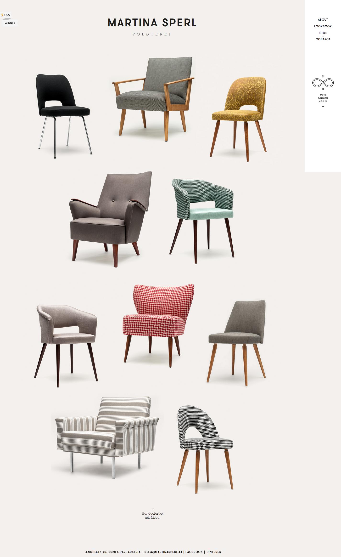 Martina sperl modern furniture e commerce site staggered grid based e commerce website design