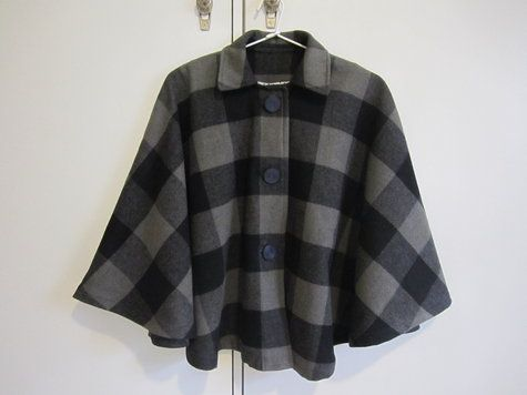 Spots and checks cape | Winter cape, Sewing projects and Sewing patterns