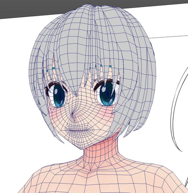 Kanata on 3d, Anime and Face