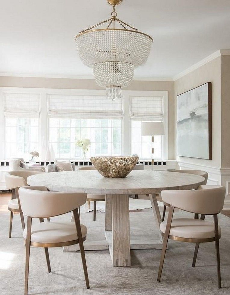 25 Lovely Contemporary Dining Room Decorating Ideas Neutral Dining Room Coastal Dining Room Cream Leather Dining Chairs