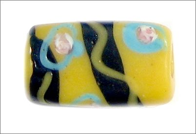 Antique tabular Venetian glass trade bead used in the African trade early 1900's.