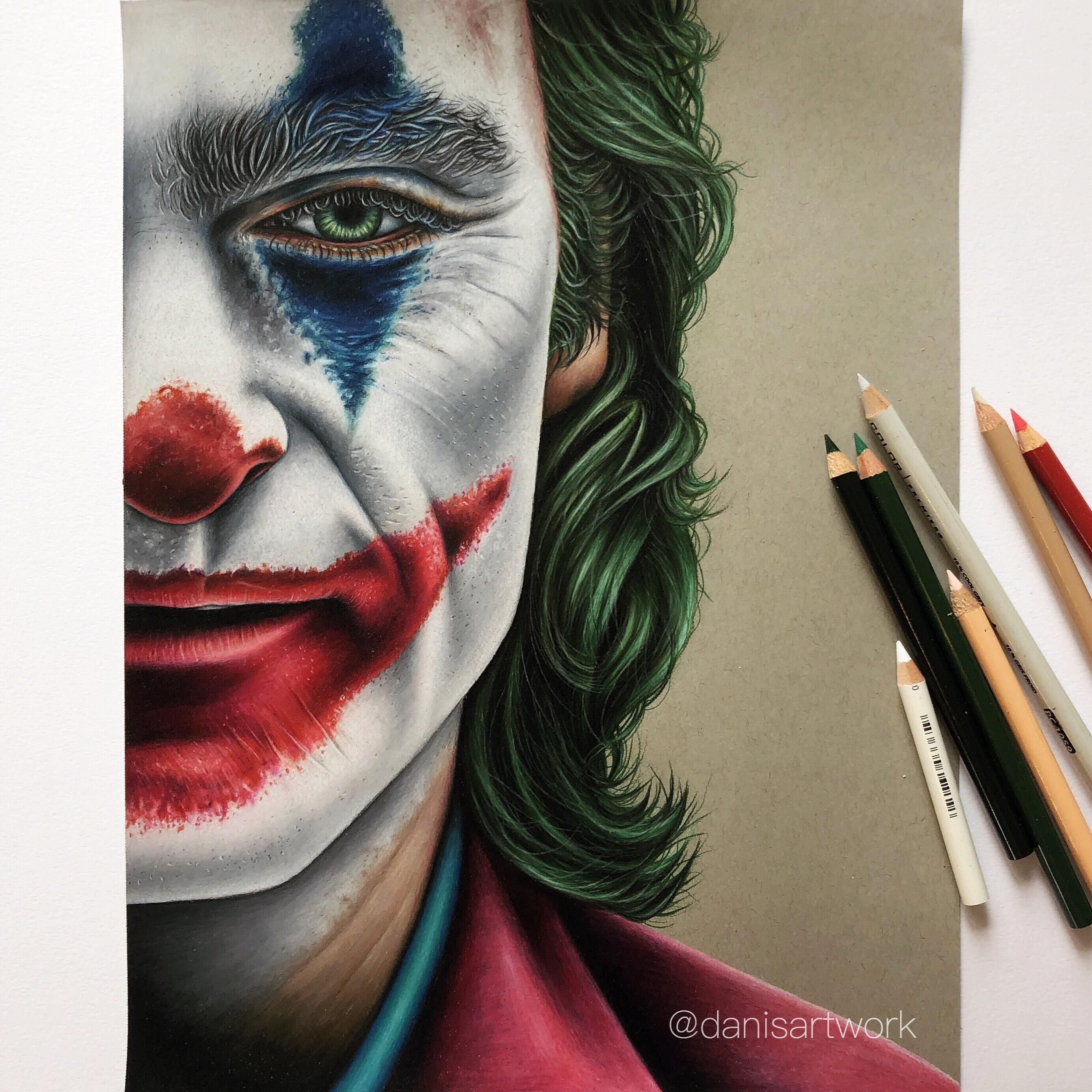 Finally finished my coloured pencil drawing of Joaquin Phoenixs ...