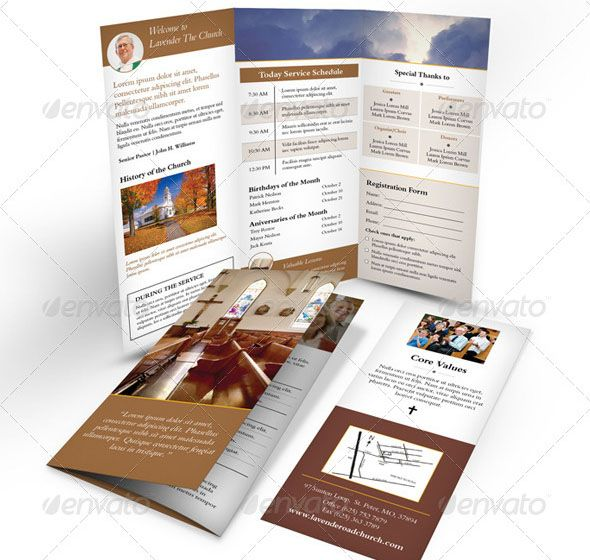 Awesome Nice Church Brochure Templates PSD InDesign - Free church brochure templates