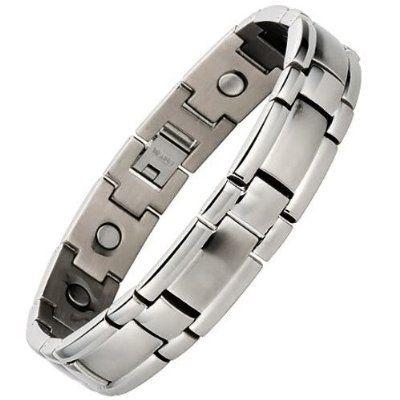 Willis Judd Ladies Titanium Magnetic Bracelet In Black Velvet Gift Box + Free Link Removal Tool VmJfTlaVQj