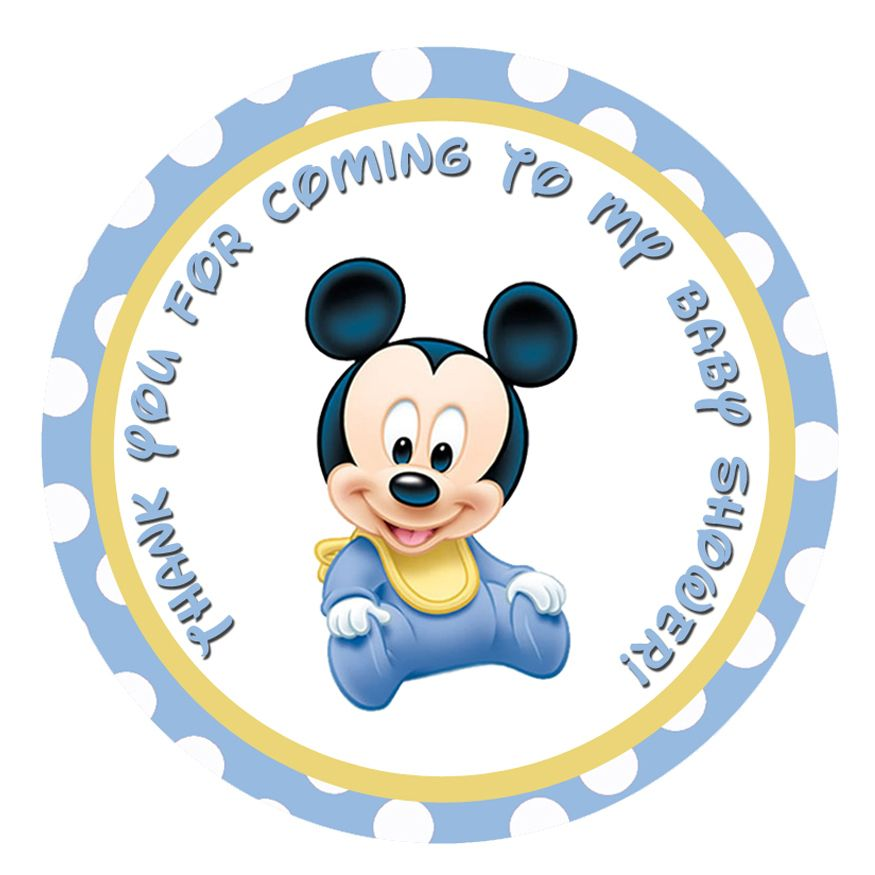 Baby Mickey Mouse Baby Shower Invitations Cute   Partyexpressinvitations
