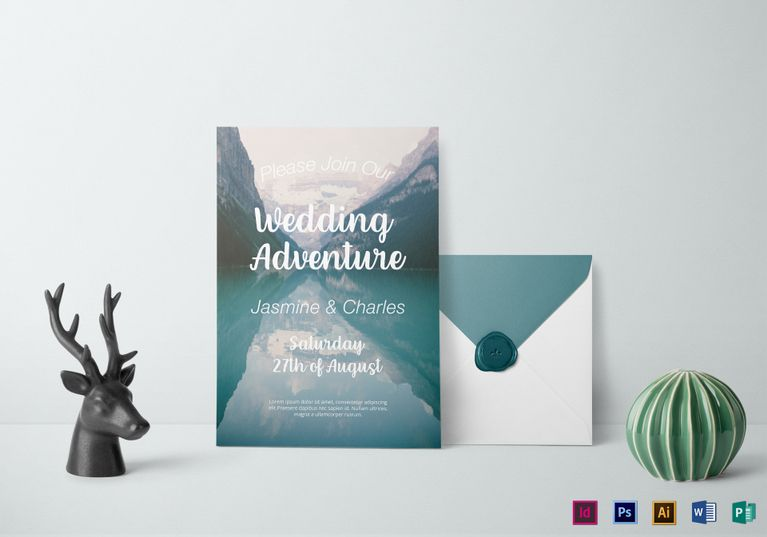 Mountain scene wedding invitation template 12 formats included mountain scene wedding invitation design template in psd word publisher illustrator indesign stopboris Choice Image