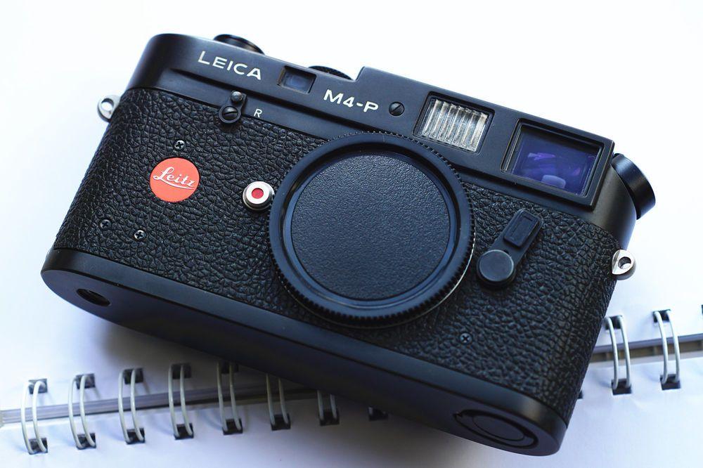 Near Mint** Leica M4-P 35mm Rangefinder film camera black body ...