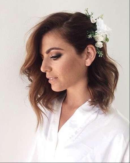 Peinados de novia laterales