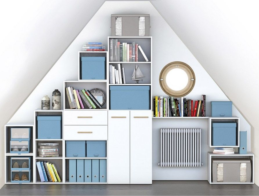 Bibliothèque Spaceo Home Blanc Bibliothèque Leroy Merlin