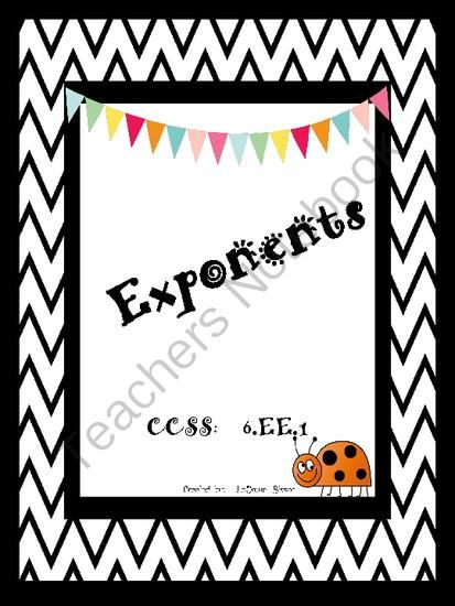 Exponents Pinterest Standard Form Math And Worksheets