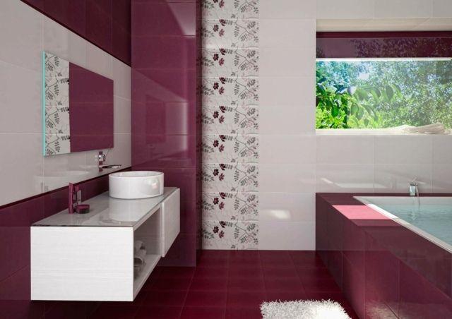 Farbideen Badezimmer ~ Rosa rot badezimmer design ideen modern praktisch
