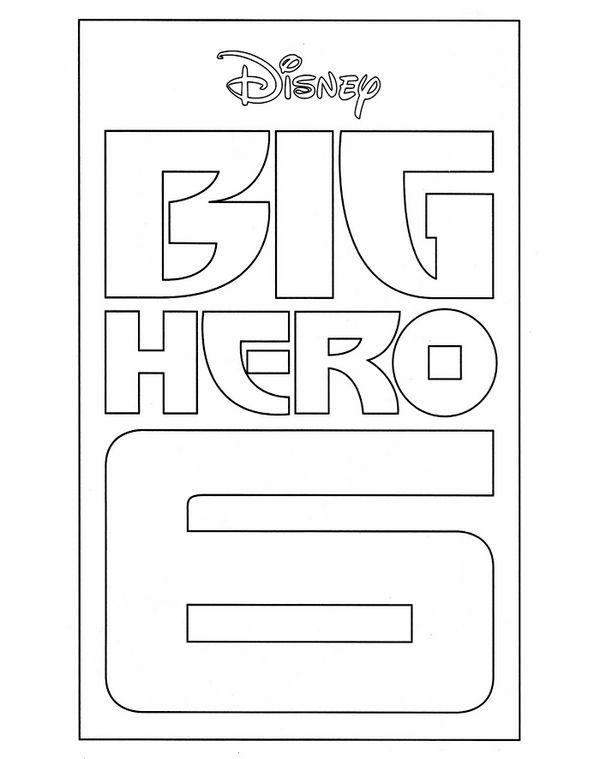 Dibujos para Colorear Big Hero 6 14 | Dibujos para colorear para ...