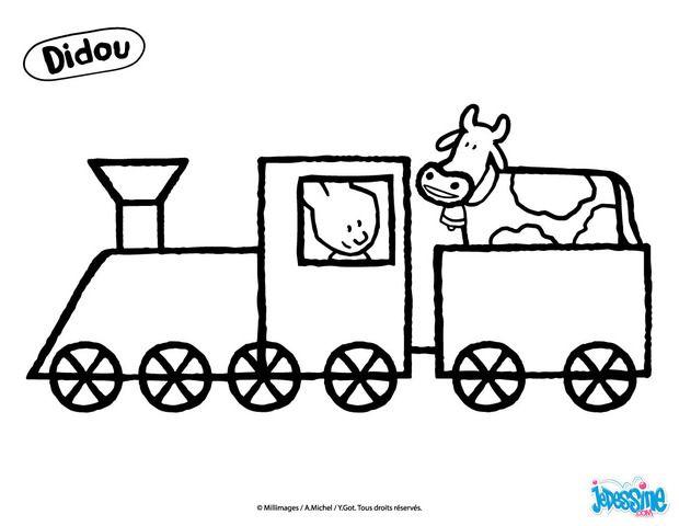 Coloriage didou conduit un train coloriage - Dessin de train a imprimer ...