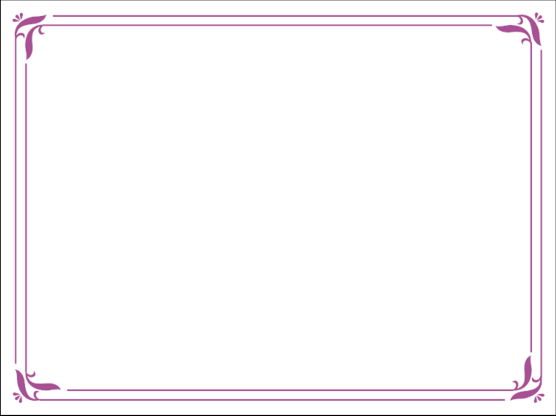 Purple Borders Free Powerpoint Template Simple Purple Certificate