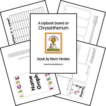 Chrysanthemum Lapbook. Book and Lesson Themes: names