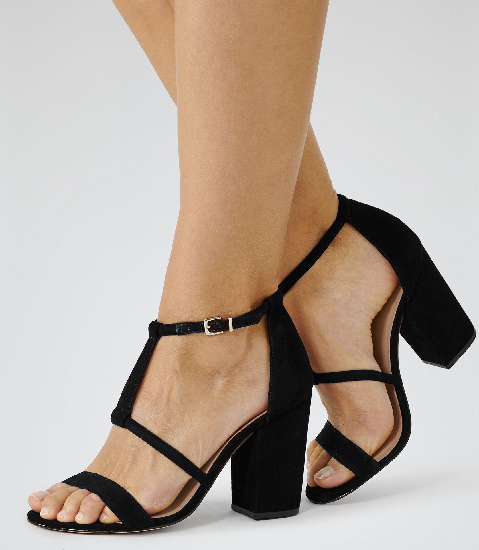fe089680ee8e Womens Black Block Heel Suede Sandals - Reiss Moretz