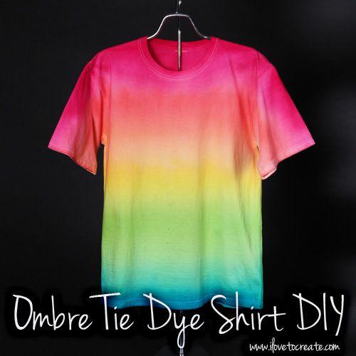 92c18418243b iLoveToCreate Blog  Ombre Tie Dye Shirt DIY + Video