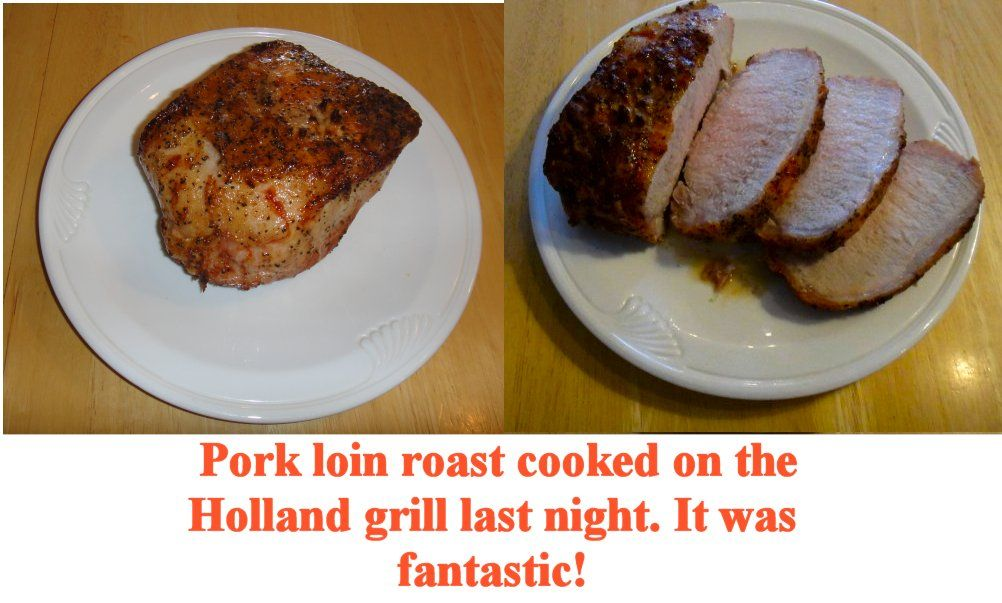 Pork Loin Roast Cooked On A Holland Grill Cooking On The Grill Pork Loin Roast Holland Grill
