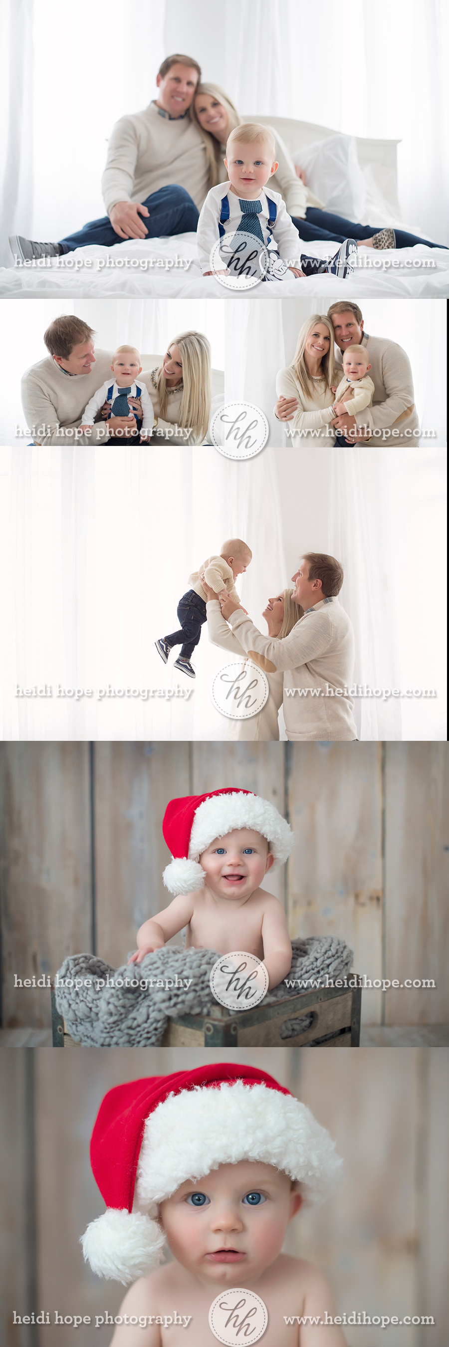 6 month old baby T and family! #christmas #baby #santa #family ...