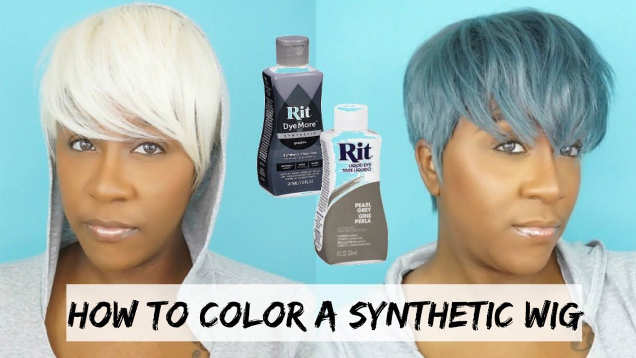 Diy Dye Your Synthetic Wig A Different Color 5 Minute Tutorial Learn How To Dye A 100 Synthetic Wig From A White Blon Synthetic Wigs Diy Wig Natural Wigs