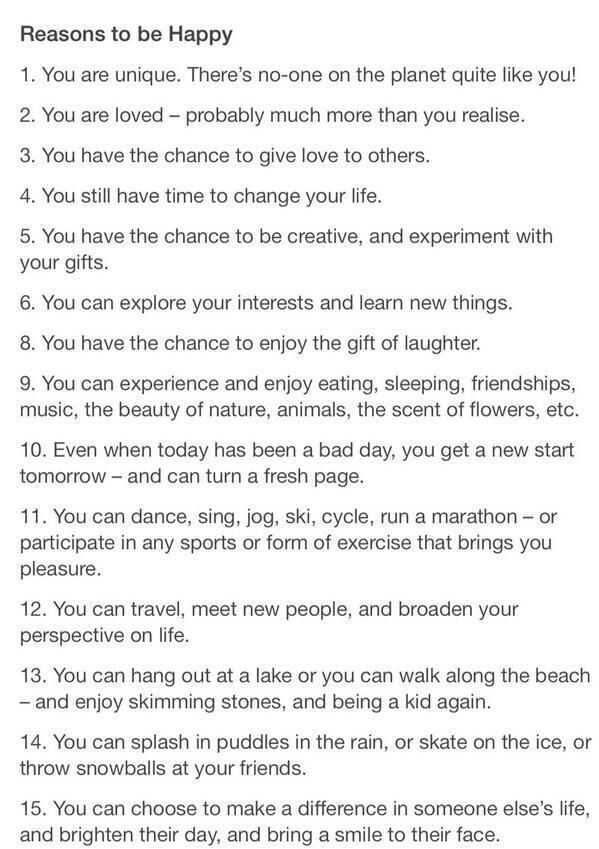 funny reasons to be happy