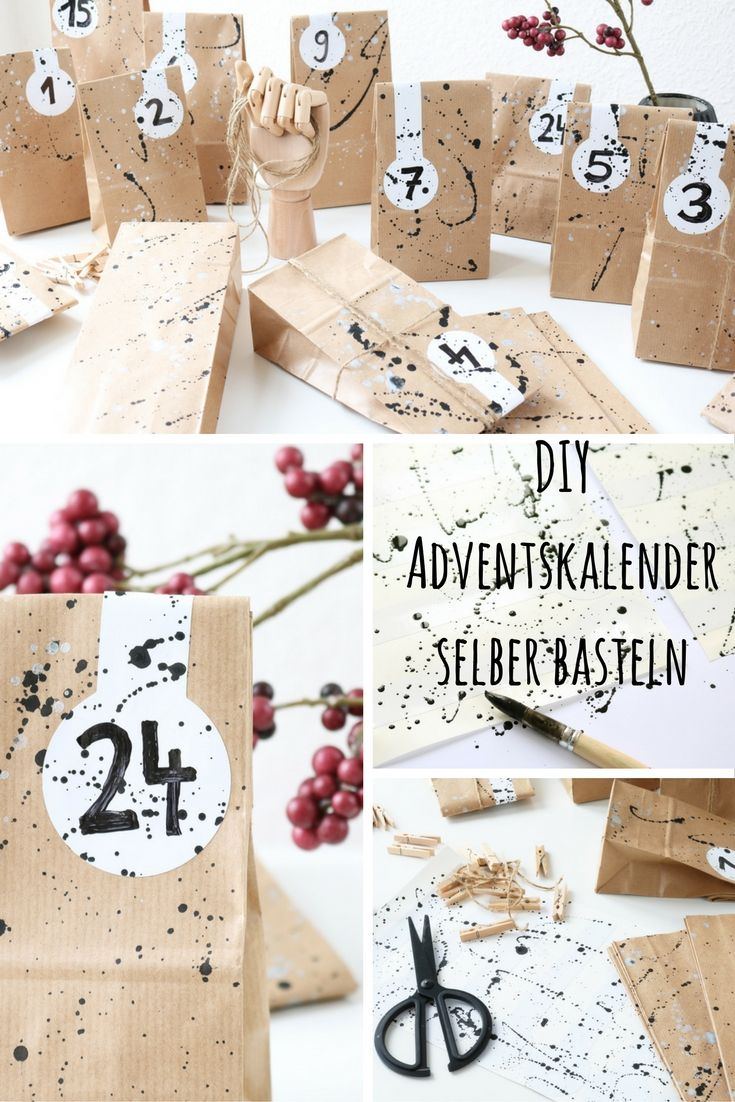 papiert ten adventskalender diy basteln selber machen pinterest adventskalender. Black Bedroom Furniture Sets. Home Design Ideas