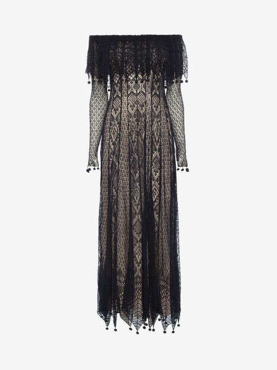Shop Women's Pom Pom Lace Dress from the official online store of iconic fashion designer Alexander McQueen.