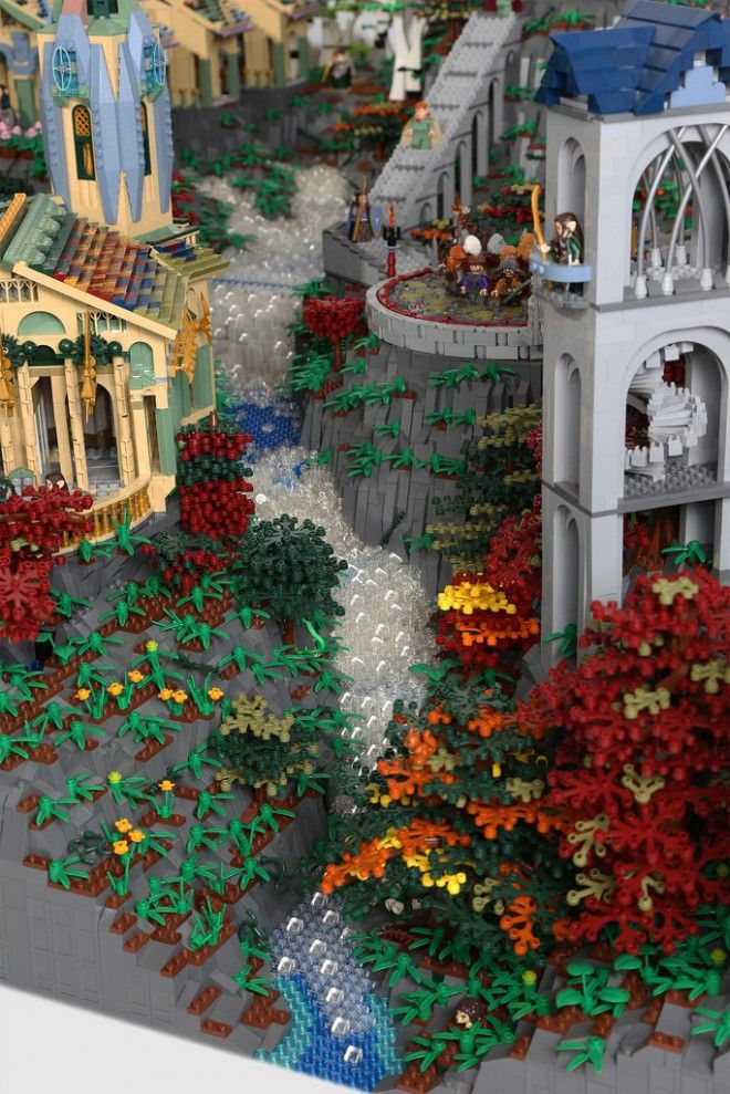 The Woman Who Built the Lego Hogwarts Just Made a 200,000-Piece Rivendell | Underwire | Wired.com