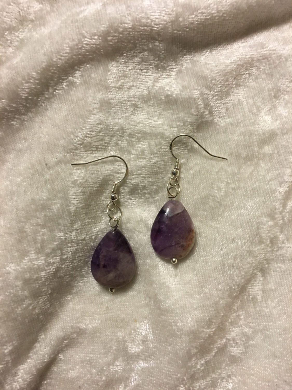 A personal favorite from my Etsy shop https://www.etsy.com/listing/258135766/teardrop-amethyst-earrings