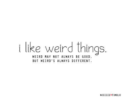 ... Weird ...