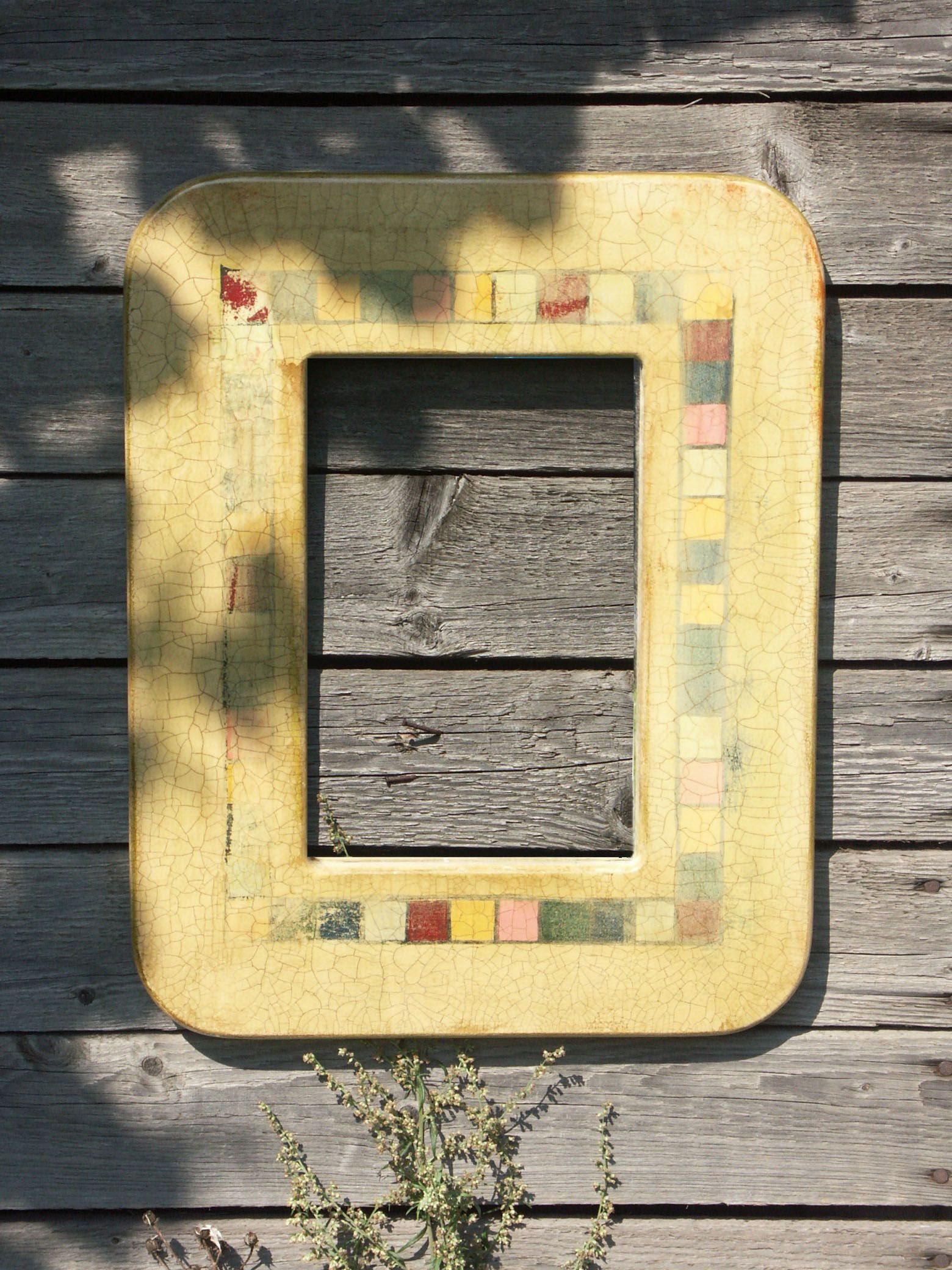 Vintage, Cracked Paint, Distressed Mirror Frame, Country Style