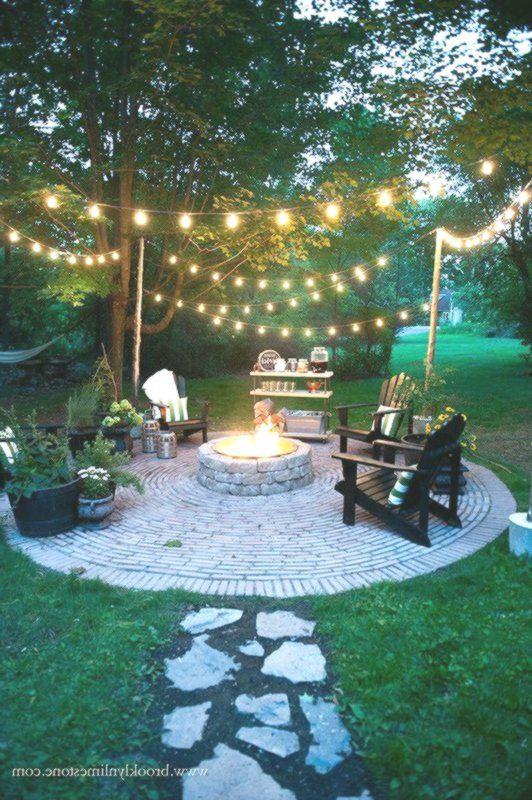 Brooklyn Limestone Country Cottage Diy Circular Firepit Patio
