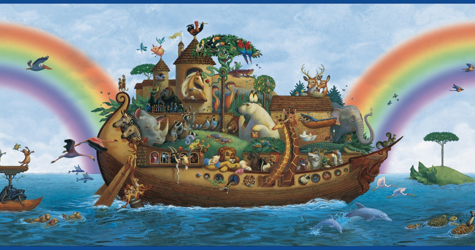 Borders by Chesapeake Majesty Noah's Ark Portrait 15' x 10