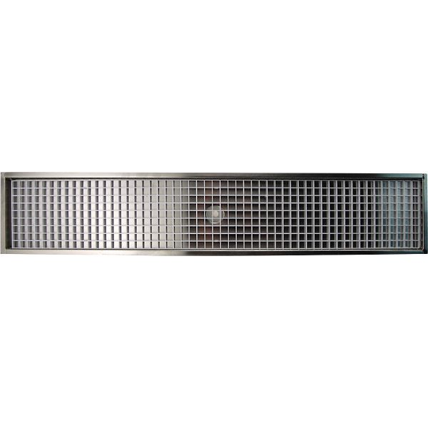 14 7 8 Flanged Mount Drip Tray Stainless Steel With Drain Drip Tray Stainless Stainless Steel