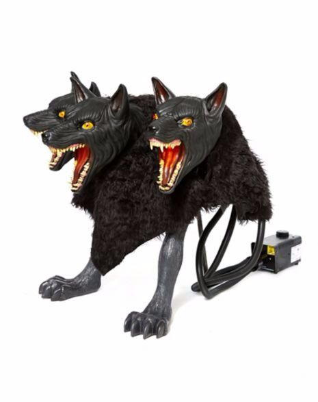 animatronic cerberus 3 headed dog is our new year round welcome wagon