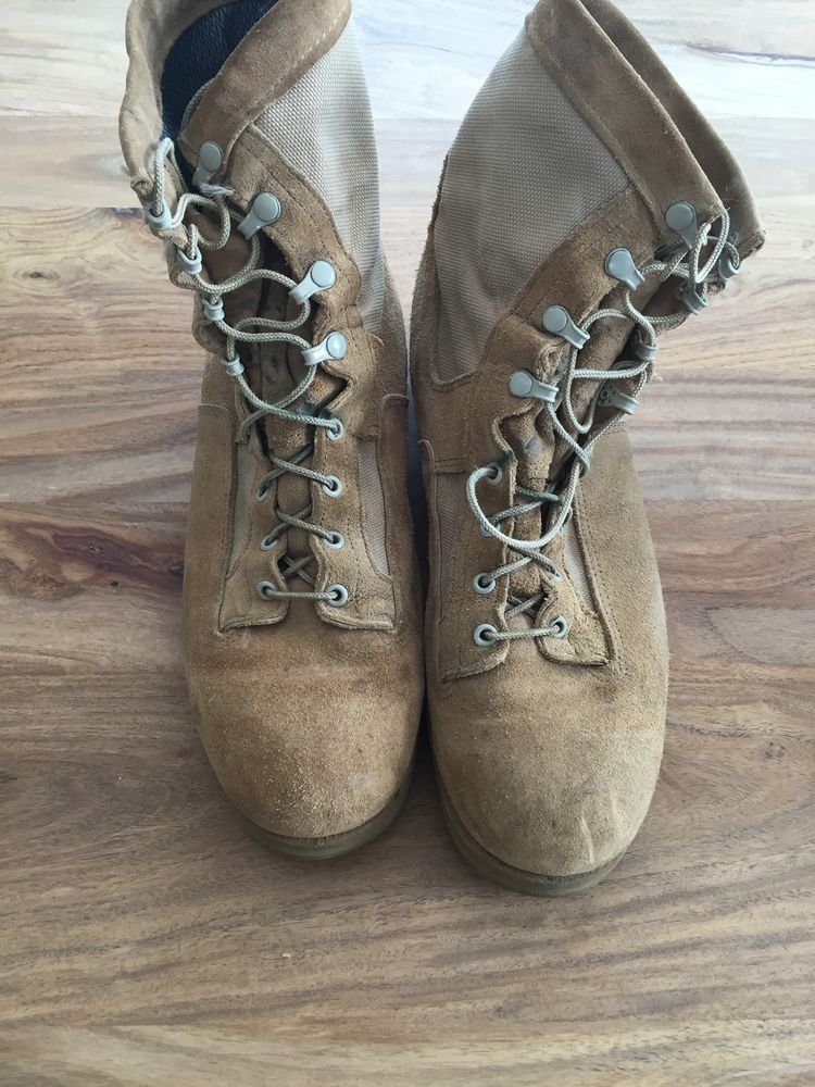 wellco desert combat boots size 12 r cold weather vibrahm soles