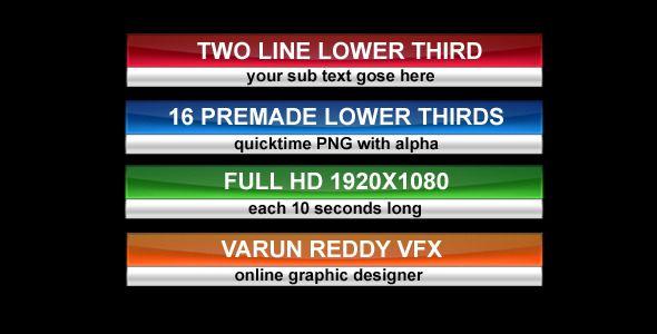 Lower Thirds 1 Lower Thirds Lower Web Design