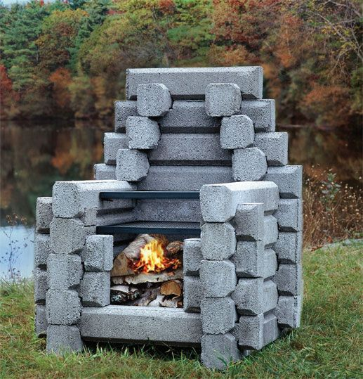 A little massive but i like that it looks like lincoln logs the moosehead fireplace for a backyard fireplace teraionfo