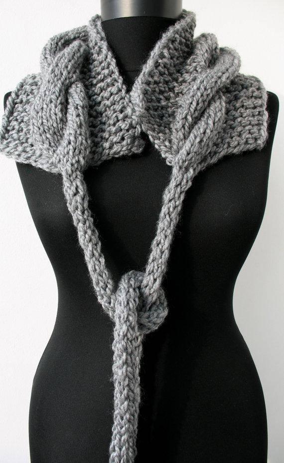 Warm BLACK WHITE or GREY Soft Waffle Knit Scarf Cow Snood Scarf Scarve