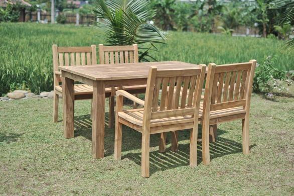 Teak tuintafel cm beaufort stoelen teak tuinsets