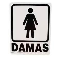 72ef348b6c0c simbolo de damas para baño - Buscar con Google | avisos en 2019 ...