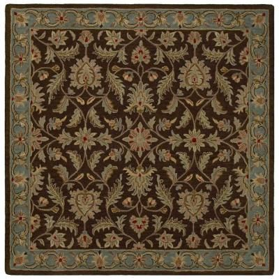 Kaleen Tara St. Vincent Chocolate 11 ft. 9 in. x 11 ft. 9 in. Square Area Rug