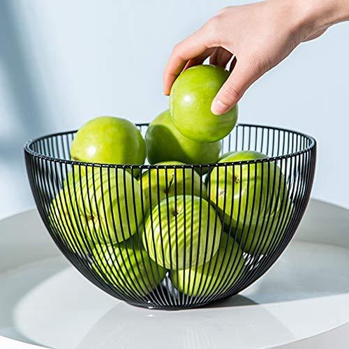 Amazon Com Sooyee Metal Wire Fruit Basket Large Round Storage