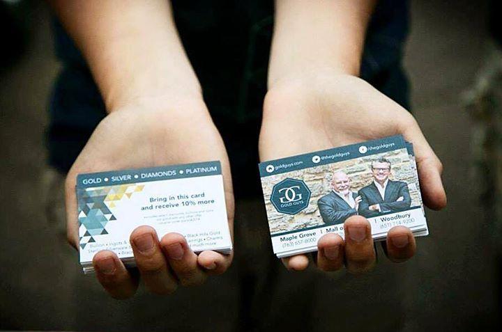 Gold Guys Business Cards | Brand Refresh by Grundy Designs | www.grundydesigns... | Facebook | Twitter #grundydesigns