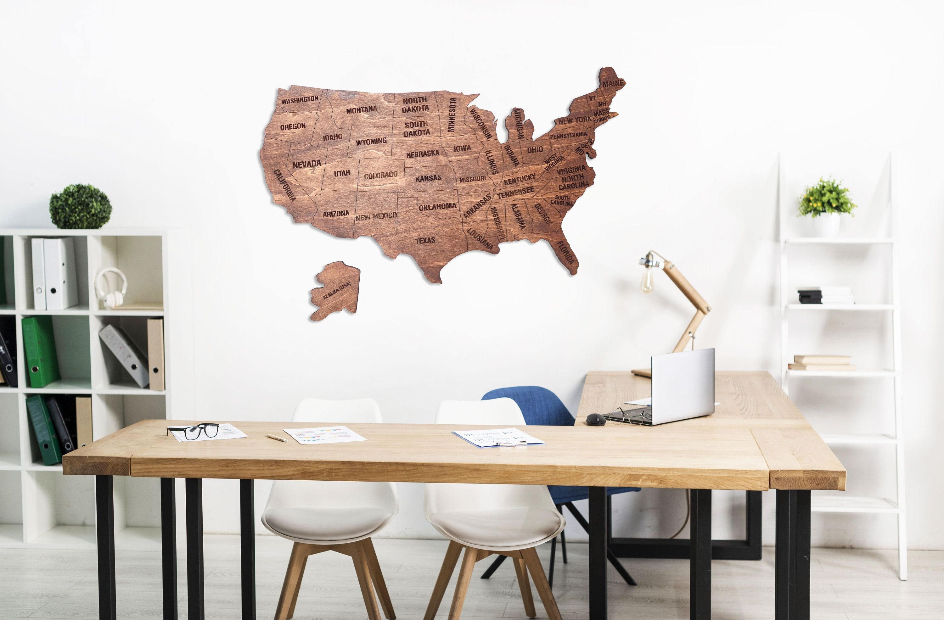 Wood Map Of United States Large Wooden Wall Art Us Map Etsy Wooden Wall Art Wall Decor Wood Map