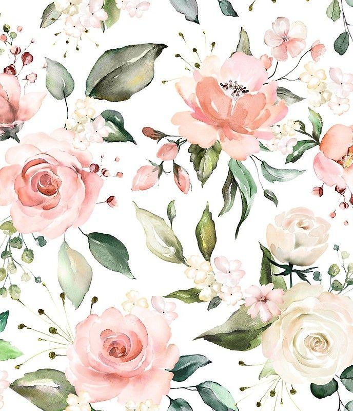 Minijupe Fleurs D Aquarelle Rose Pastel Floral Ensoleille Par