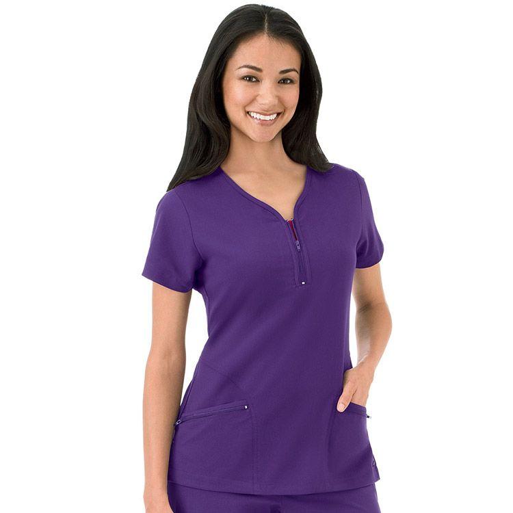 WonderWink Womens Decorative V-Neck Top Medical Scrubs